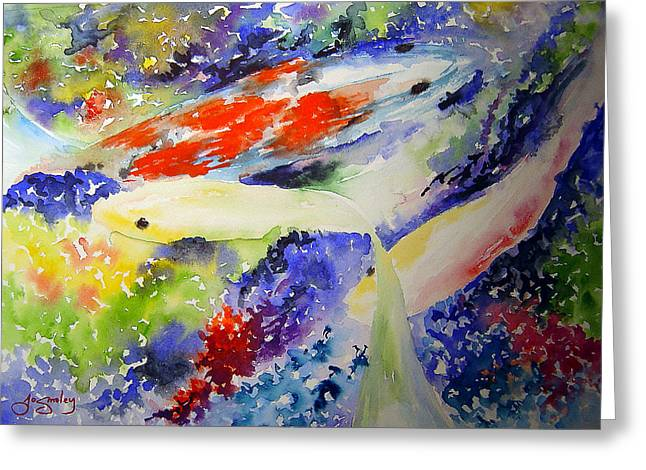 Koi Greeting Card by Joanne Smoley