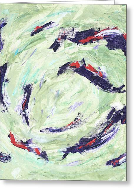 Koi Joy Greeting Card
