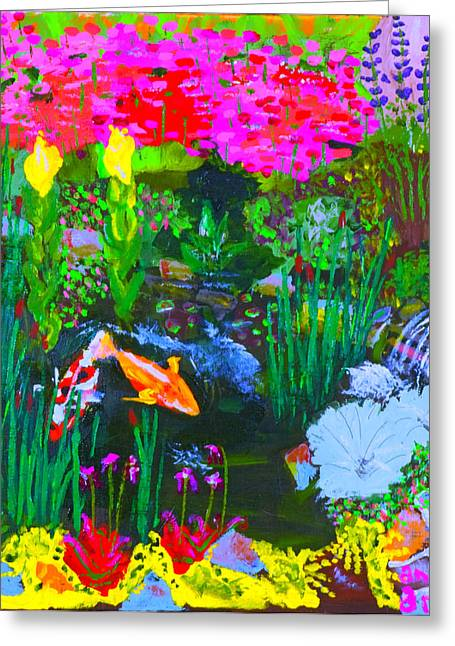 Koi Pond I Greeting Card