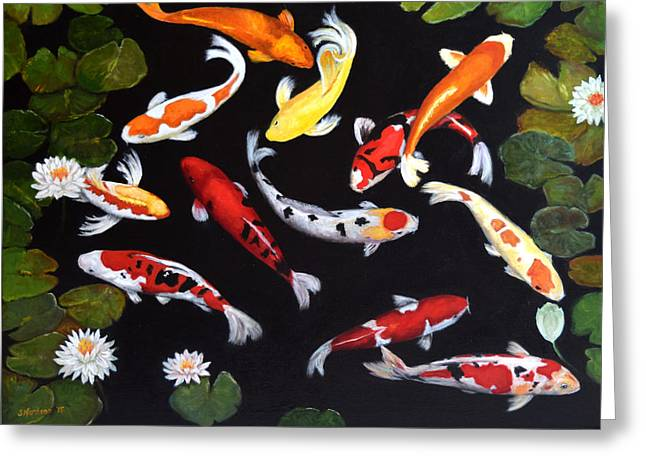 Koi V Greeting Card