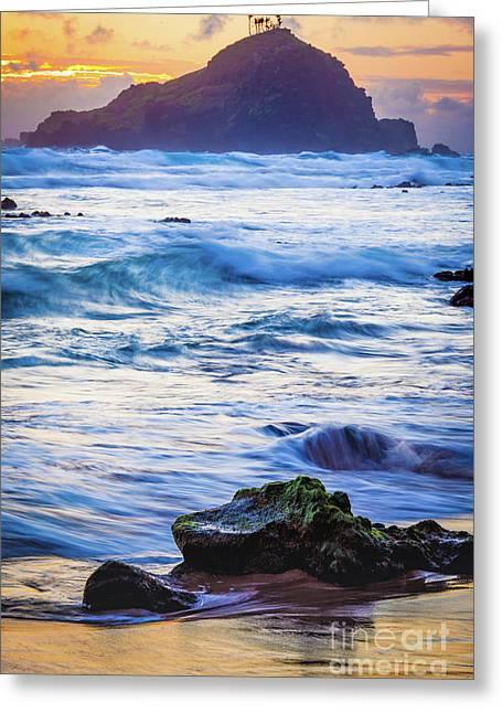 Koki Beach Sunrise #4 Greeting Card by Inge Johnsson