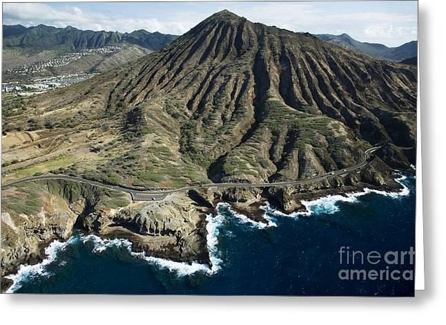 Koko Head And East Shore Line Greeting Card by Peter French - Printscapes
