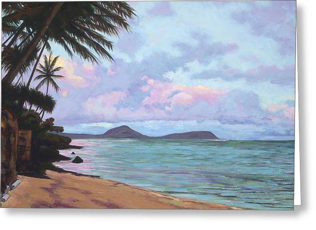 Overhang Greeting Cards - Koko Palms Greeting Card by Patti Bruce - Printscapes