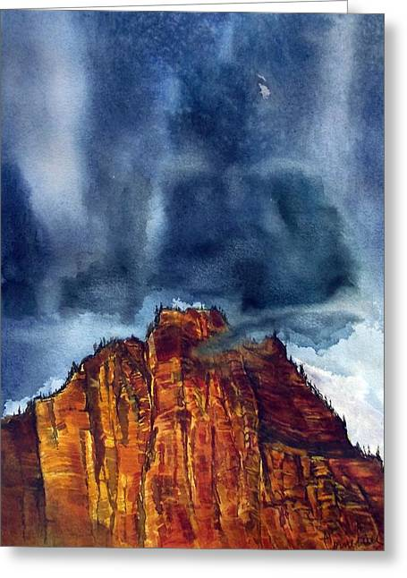 Kolob Thunderstorm Greeting Card by Russell Cornelius