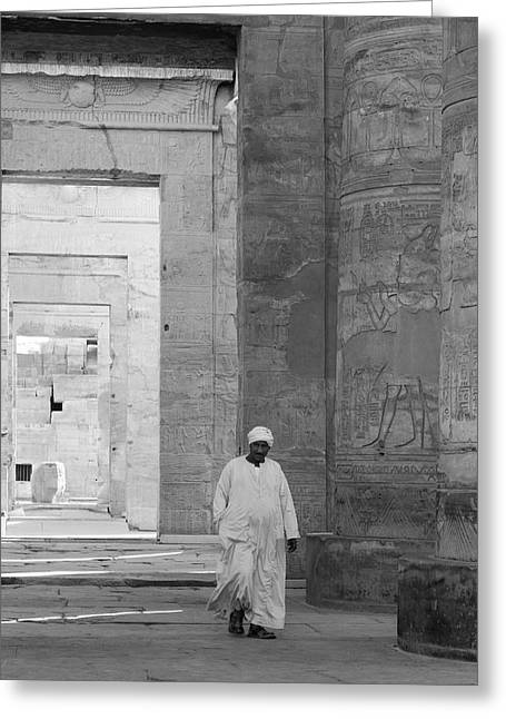 Kom Ombo Temple Greeting Card by Silvia Bruno
