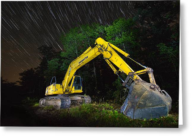 Komatsu Back Hoe Greeting Card by Paul Freidlund