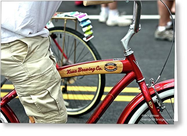 Kona Beer Bike Greeting Card