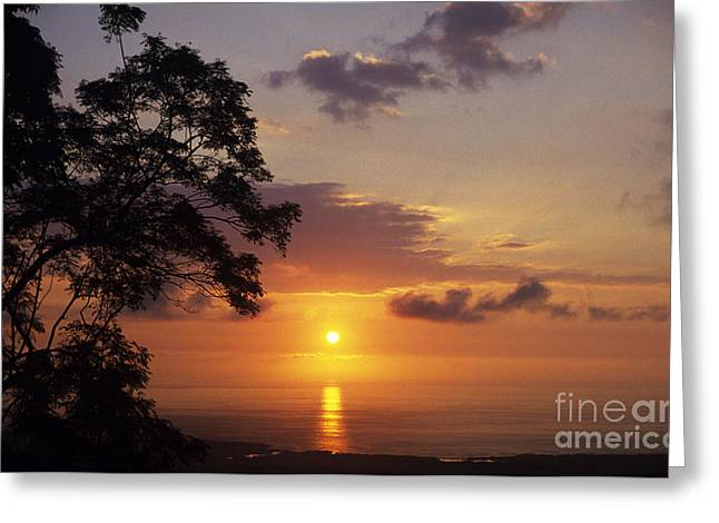 Kona Coast Sunset Greeting Card by Peter French - Printscapes