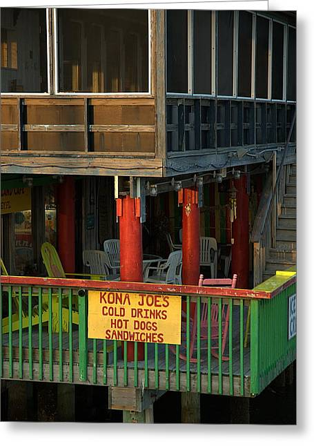 Kona Joes - Cedar Key Greeting Card by Kathi Shotwell