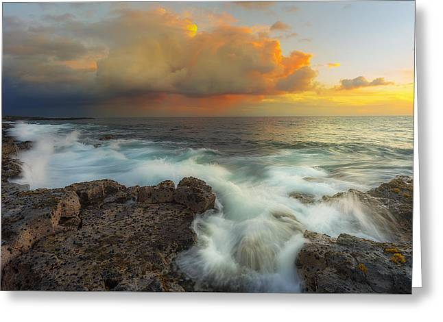 Kona Rush Hour Greeting Card by Ryan Manuel