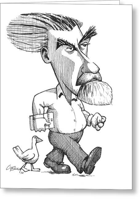 Konrad Lorenz, Caricature Greeting Card