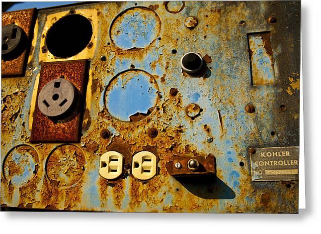 Kontroller Rust And Metal Series Greeting Card by Mark Weaver
