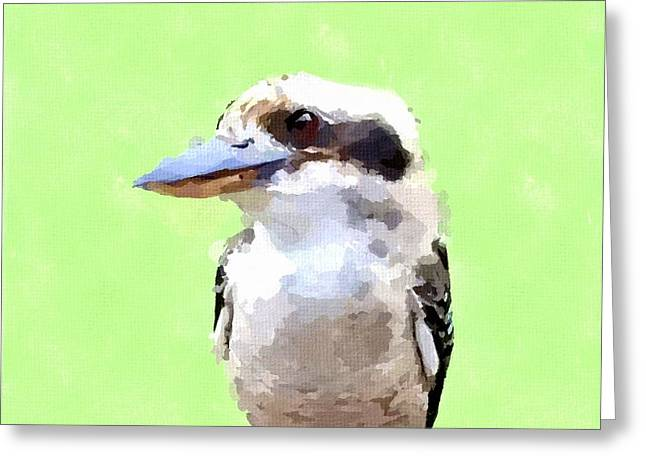 Kookaburra Greeting Card by Chris Butler
