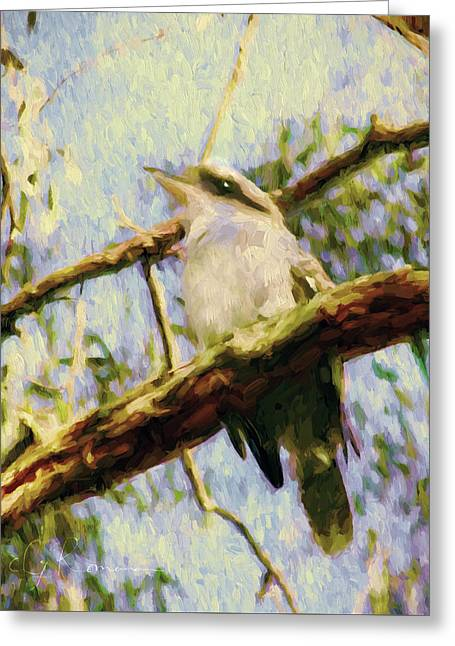 Kookaburra Laughing Bird  Greeting Card by Georgiana Romanovna