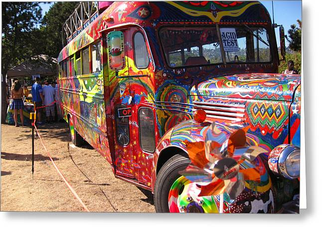 Kool Aid Acid Test Bus Greeting Card by Kym Backland