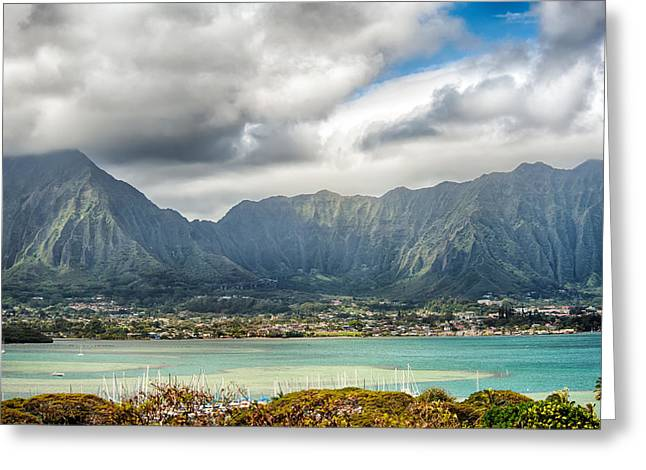 Ko'olau And H-3 In Color Greeting Card