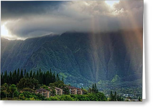 Koolau Sun Rays Greeting Card