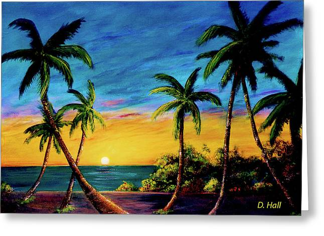 Ko'olina Sunset On The West Side Of Oahu Hawaii #299 Greeting Card by Donald k Hall