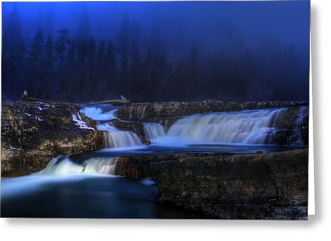 Kootenai Falls - Painting With Light Greeting Card by Robert Hosea