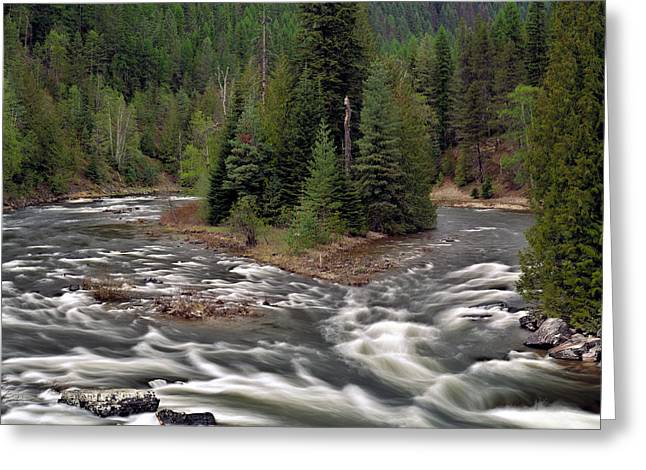 Kootenai River Greeting Card by Leland D Howard