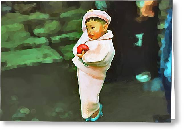 Greeting Card featuring the photograph Korean Pink by Dale Stillman