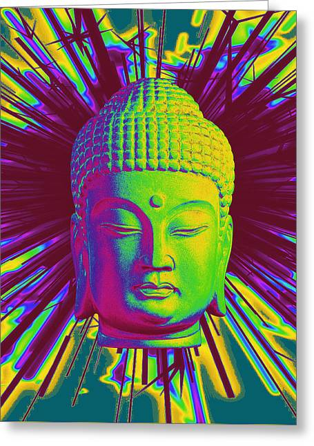Historic Statue Greeting Cards - Korean sparkle Greeting Card by Terrell Kaucher