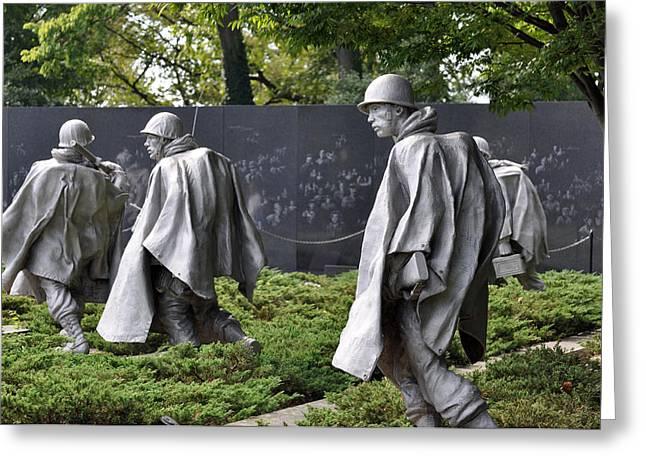 Korean War Memorial 3 Greeting Card by Teresa Blanton