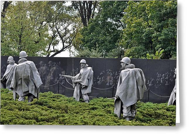 Korean War Memorial 4 Greeting Card by Teresa Blanton