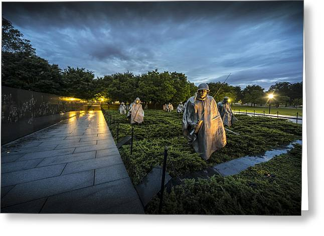 Korean War Memorial Greeting Card by David Morefield