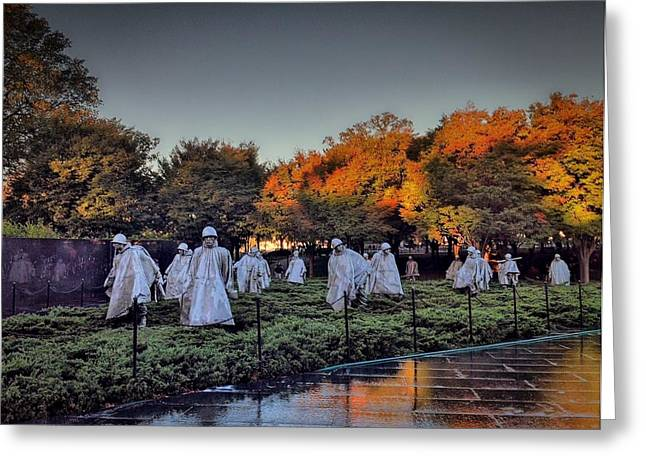 Korean War Memorial In Washington Dc Greeting Card