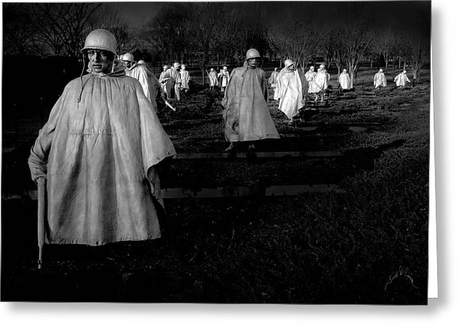 Korean War Memorial Greeting Card by Williams-Cairns Photography LLC