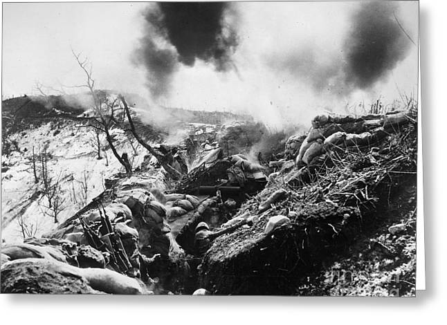 Korean War: Trenches, 1952 Greeting Card