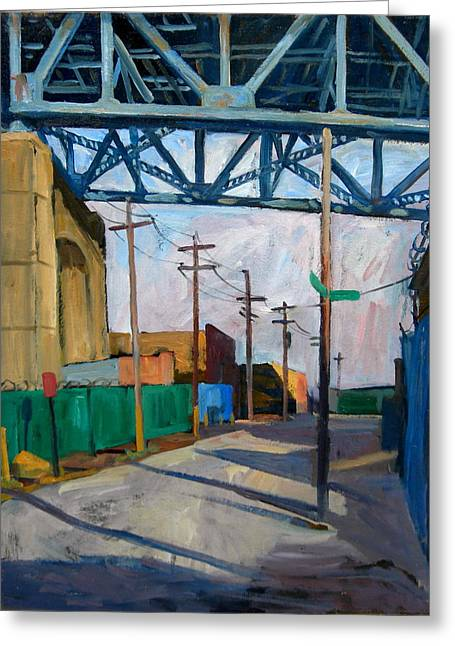 Kosciuszko Bridge Shadows Greeting Card by Thor Wickstrom