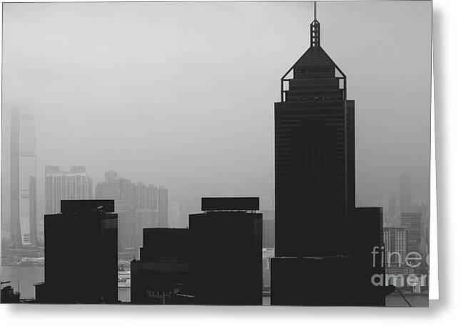 Kowloon View Greeting Card by Jim Chamberlain