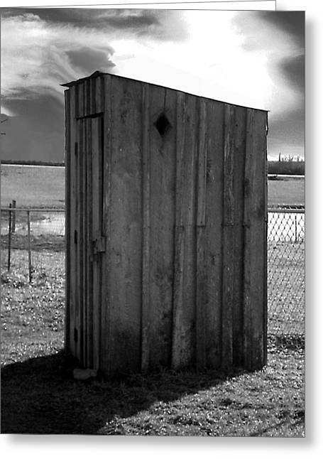 Koyl Cemetery Outhouse5 Greeting Card by Curtis J Neeley Jr