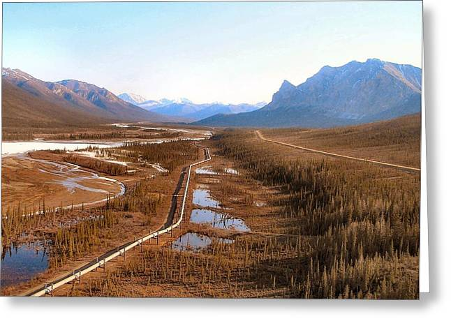 Koyukuk River Valley Greeting Card by Adam Owen
