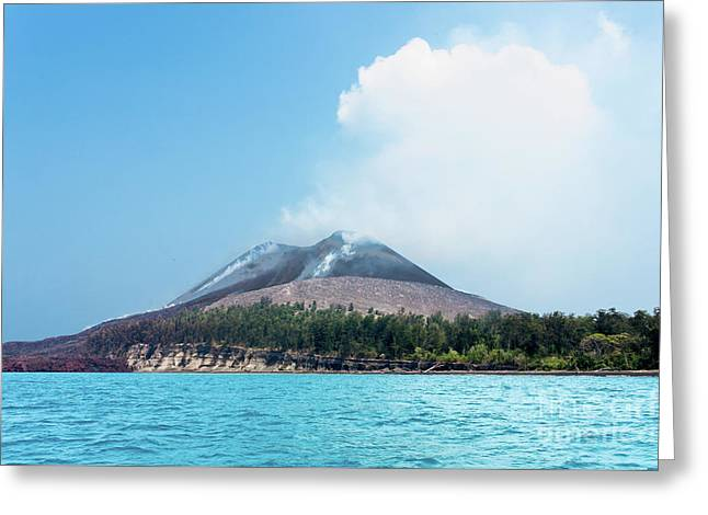 Krakatoa Mountain Greeting Card
