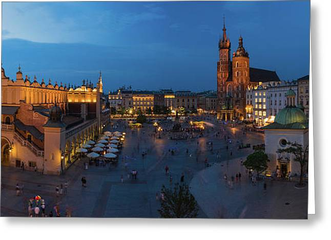 Krakow Poland Main Square Greeting Card