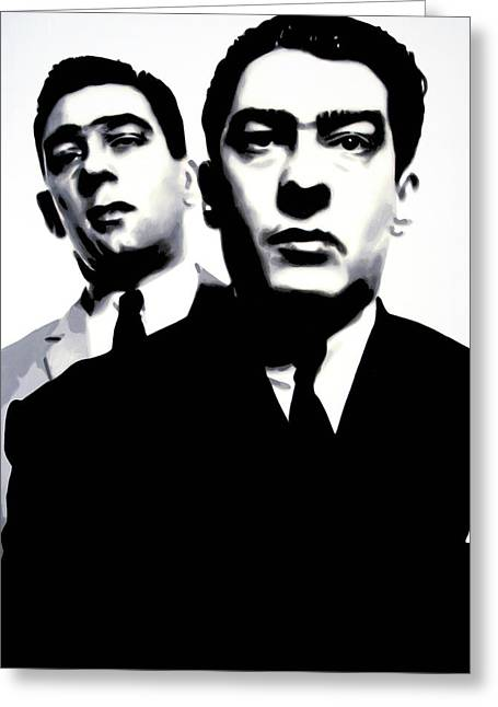 Kray Twins Greeting Card by Luis Ludzska