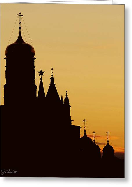 Kremlin Dusk Greeting Card by Joe Bonita