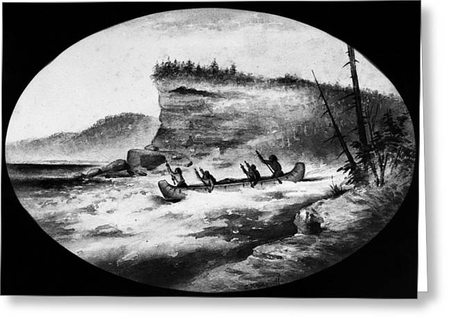Krieghoff: Canoe On Rapids Greeting Card by Granger