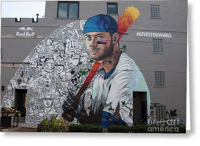 Kris Bryant Mural Greeting Card by Timothy Johnson