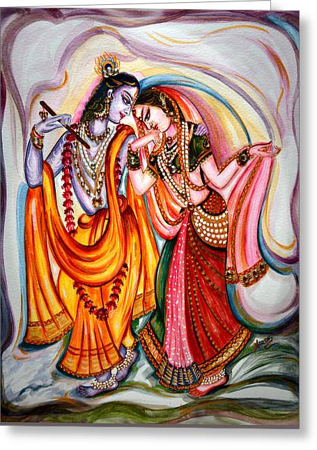 Krishna And Radha Greeting Card