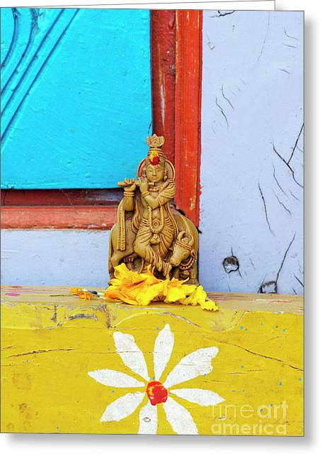 Krishna Blessings Greeting Card by Tim Gainey