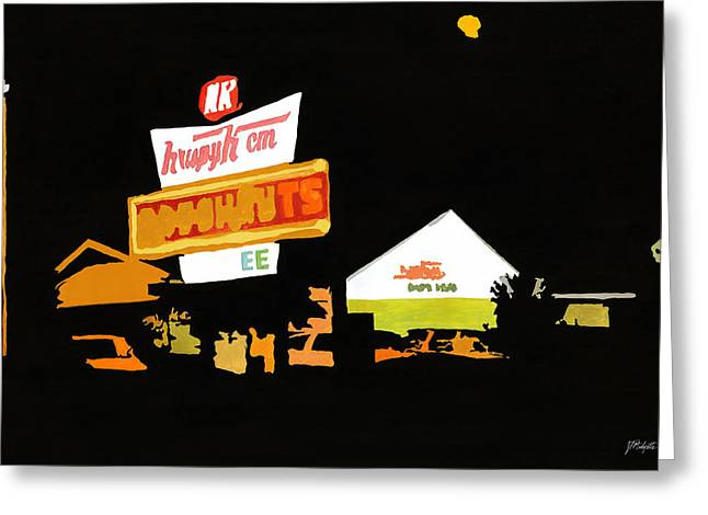 Krispy Kreme At Night Greeting Card