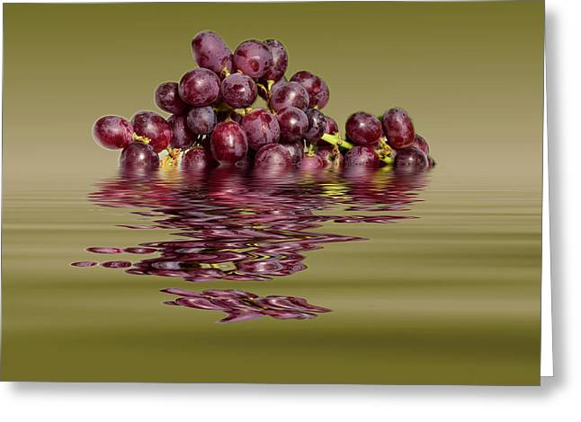 Krissy Gold Grapes To Wine Greeting Card