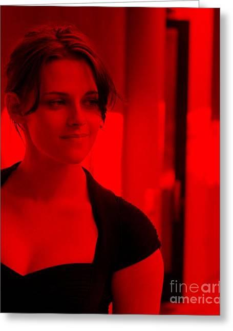 Kristen Stewart Greeting Card by Mona Jain