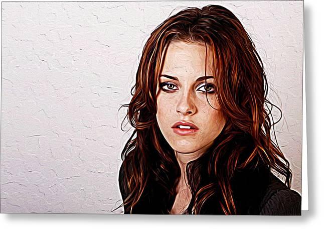 Kristen Stewart Greeting Card by Iguanna Espinosa