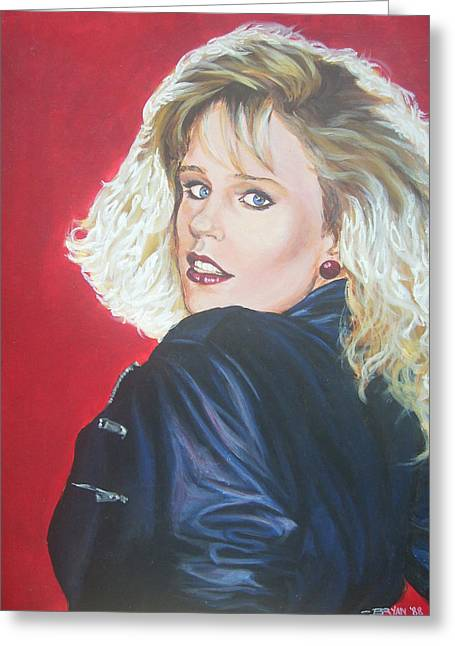Greeting Card featuring the painting Kristi Sommers by Bryan Bustard