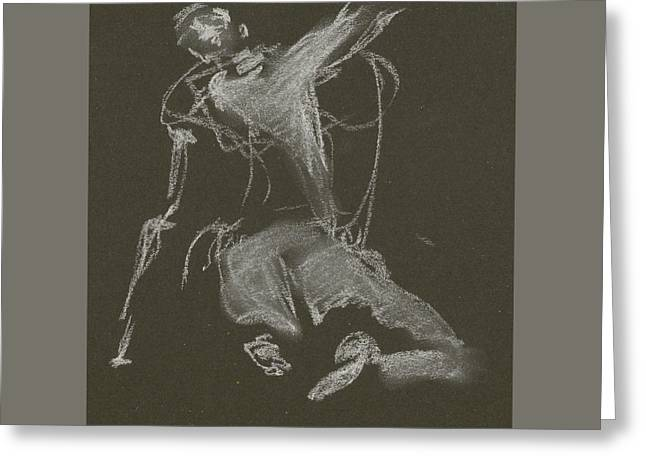 Kroki-2015-04-11-figure-drawing-white-chalk-marica-ohlsson-marica-ohlsson Greeting Card